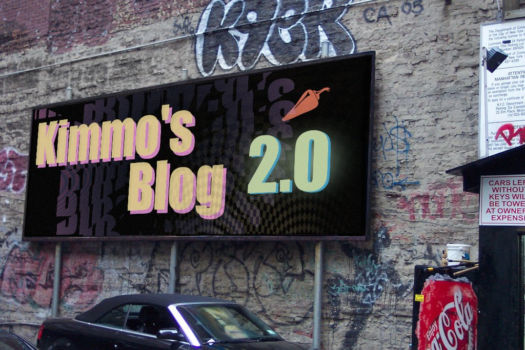 Kimmo's Blog on a billboard